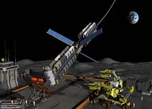 Space Exploration - Lunar elevator lunar base (1280)