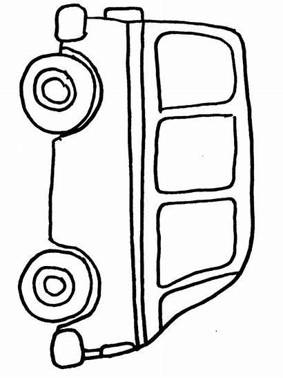 Van Coloring Pages Transportation Bus Cars Transporte