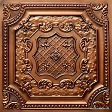 Tin Look Decorative Ceiling Tile Td04 Aged Copper Glue Up
