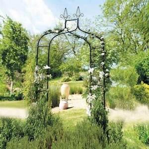 Arche Metal Pour Plante Grimpante : arche de jardin avec pointe 240x140cm provence outillage ~ Premium-room.com Idées de Décoration