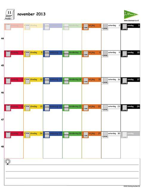 kalender uitprinten