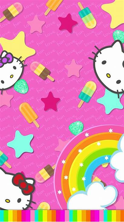 Kitty Hello Wallpapers Backgrounds Iphone Rainbow Unicorn