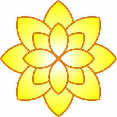 Simple Flowers Flower Yellow Clipart Clip Drawings