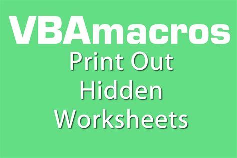print out worksheets vba macros tutorial ms