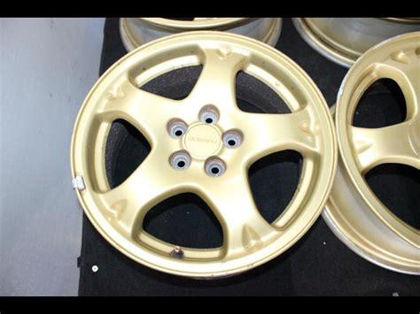 jdm subaru 16 inch gold 5x100 offset 53 wheels rims for