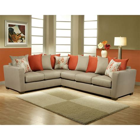 Burnt Orange Sofa Set by Gray And Burnt Orange Sectional Stuff To Buy 2