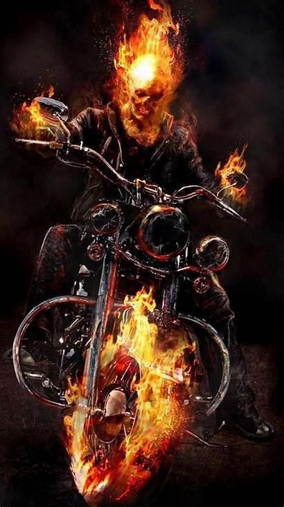 Ghost Rider Wallpapers Motorcycle 3d Marvel Iphone