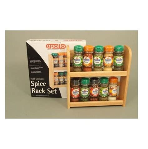 Wall Mount Spice Rack With Jars by Wooden Spice Rack With 10 Spices Jars Free Stand Or