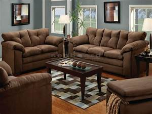 luna chocolate microfiber sofa and loveseat set 6565 With sofa sets and couches