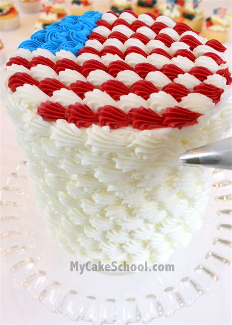 4th Of July Cake Decorating Ideas adorable fourth of july cake amp cupcake ideas tutorial