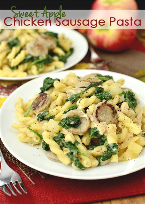 There is something about the flavor combo that i just love. Sweet Apple Chicken Sausage Pasta - Iowa Girl Eats