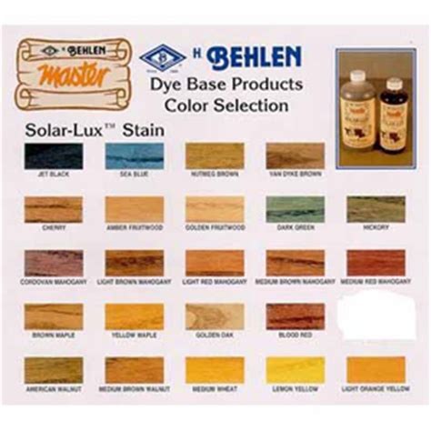 solar lux ngr stain color chart