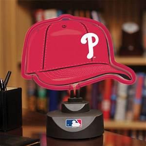 Philadelphia Phillies Neon Helmet & Cap Desk Lamp at