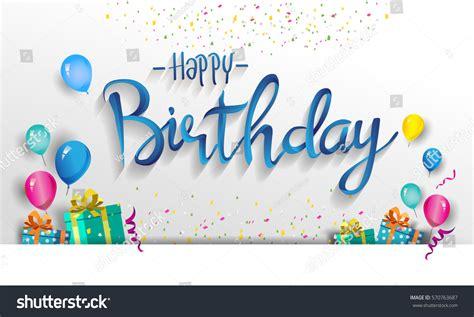 Happy Birthday Typography Vector Design Greeting Stock