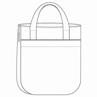 Drawing Tote Line Pattern Bag Pdf Super