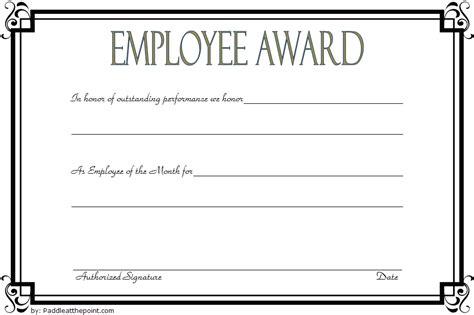 employee certificate template  gorgeous designs