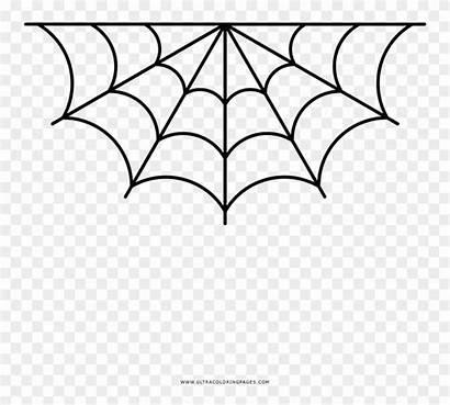 Spider Corner Coloring Spiderweb Spiderman Border Pngfind
