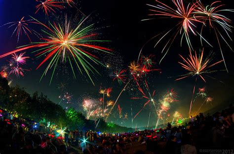 Happy New Year Fireworks - Traditional Celebration ...