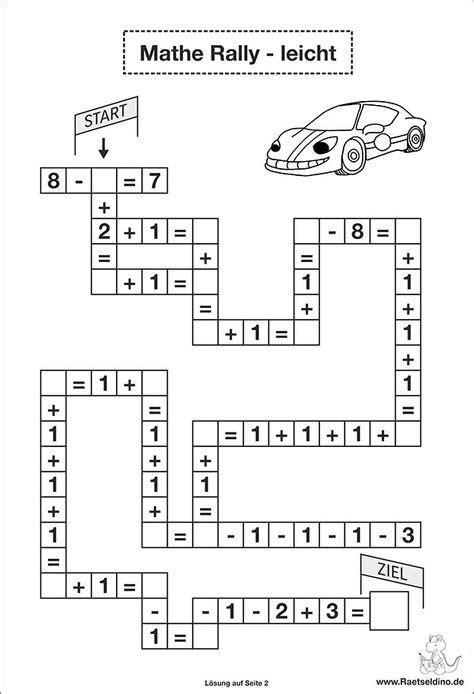 Rechen Rätsel by Rechen Aufgaben Leicht 1 Klasse Schule Mathe R 228 Tsel