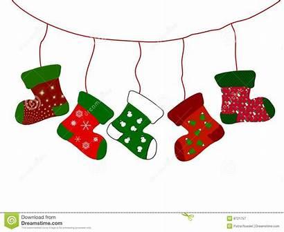 Stockings Christmas Clipart Socks Stocking Hanging Line