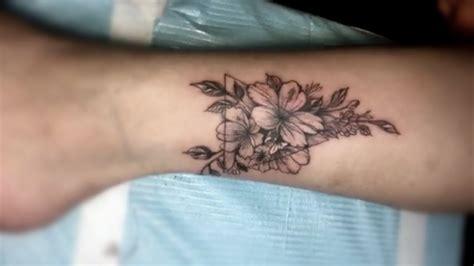 flower tattoos small tattoo designs  womans leg youtube