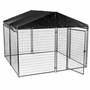 lucky dog cl 69145 modular welded wire kennel with kennel With wire dog kennel cover