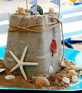 DIY Sandcastle Centerpiece Summer Crafts - Completely