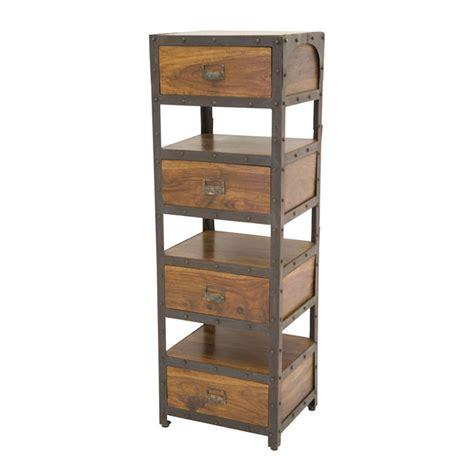 colonne rangement bureau colonne de rangement bois et métal sasque 4872