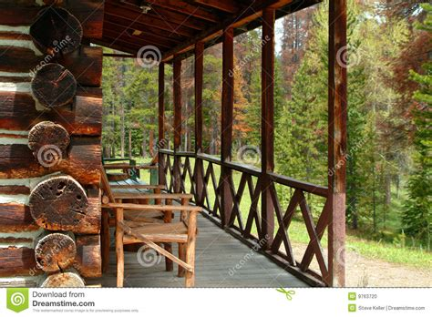 small cabin home plans log cabin porch stock photo image 9763720