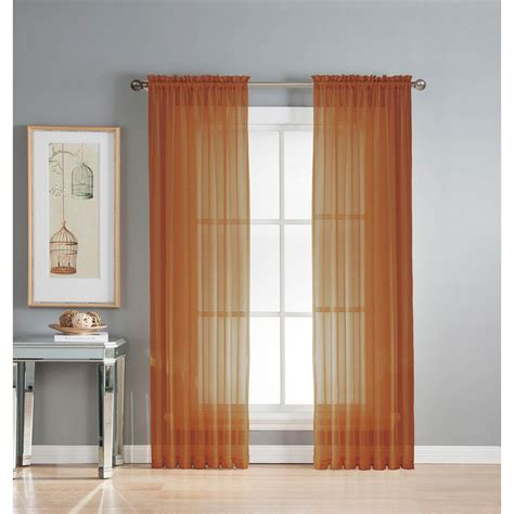 rust drapes window elements sheer sheer rust rod pocket