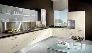 Cocinas, En, L, Modernas