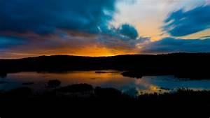 Download, Wallpaper, 3840x2160, River, Sunset, Twilight, Dark, Landscape, 4k, Uhd, 16, 9, Hd, Background