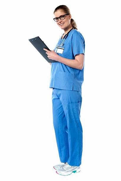 Doctor Nurse Lady Portrait Length Transparent Female