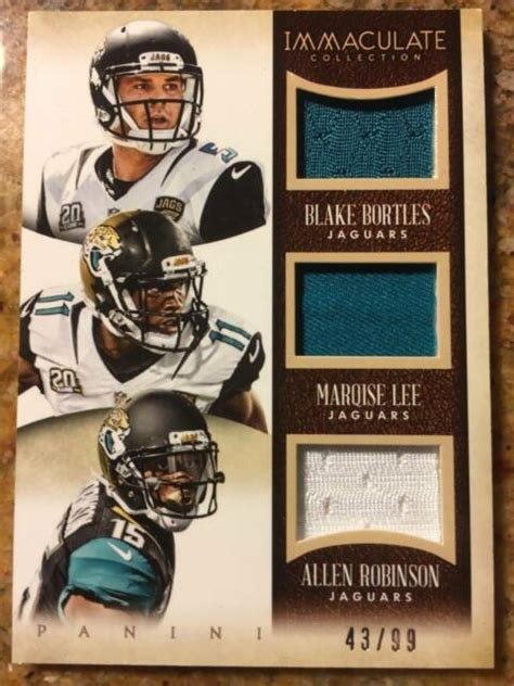 2014 Immaculate Rookie Jersey Trios /99 Blake Bortles ...