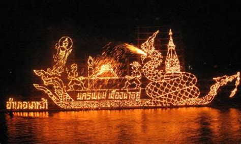 Illuminated Boat by Tourists Flock To See Illuminated Boat Procession