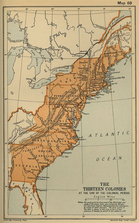 13 Colonies Map  Free Large Images