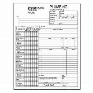 plumbing contractor invoice forms work order designsnprint With plumbing work order invoice