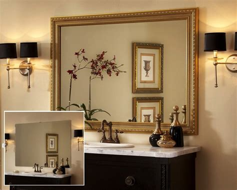 Large Framed Mirror For Bathroom by Large Framed Mirrors Bathroom Mirror Frame With Widespread