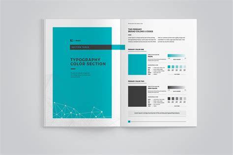 brand manual corporate identity template