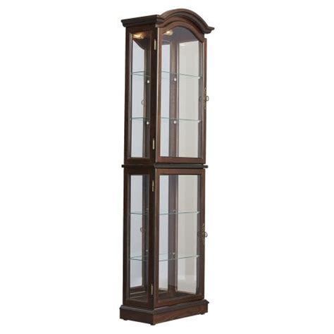 lighted curio cabinet with cabinet types of lights
