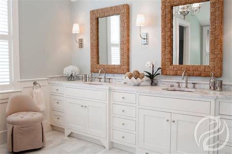Bathroom With Rope Vanity Mirrors