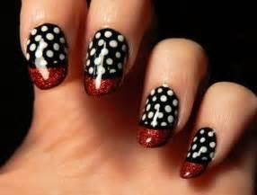 Black and white nail art designs violet fashion