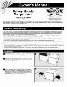 Battery Module Compartment Subf2030 Manuals