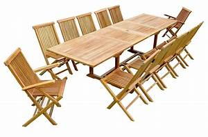 Table Teck Jardin : salon de jardin teck table rallonge ~ Teatrodelosmanantiales.com Idées de Décoration