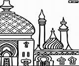 Moschee Islam Moschea Coloriage Minaretes Mezquita Colorare Kleurplaat Colorear Minarett Moskee Minaretten Ausmalbilder Minareti Islamic Enfants Kleurplaten Ramadan Disegni Coloring sketch template