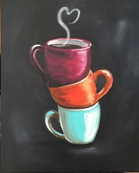"Sip And Paint ""coffee Cups""  Art Studio 27 Sip And Paint"