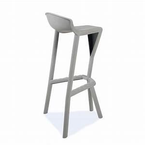 Table Bar Avec Tabouret : tabouret de bar design en technopolym re shiver 4 pieds tables chaises et tabourets ~ Teatrodelosmanantiales.com Idées de Décoration