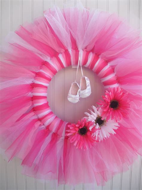 Shabby Chic Birthday Decorations by Items Similar To Ballerina Tulle Wreath On Etsy