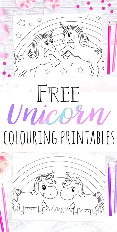unicorn colouring sheets  images unicorn