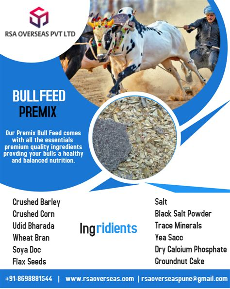 bull feed give balanced nutrition expert designed team